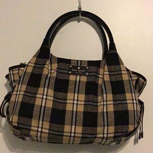 Used twice Kate Spade Soft Wool Plaid Tote/Handbag
